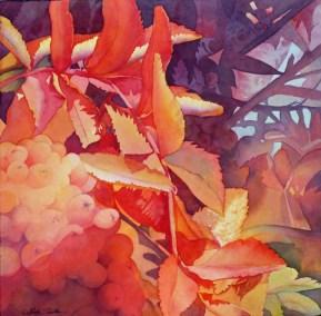"""""""Autumn's Glow"""" Linda Shelton, 18""""x18"""""""