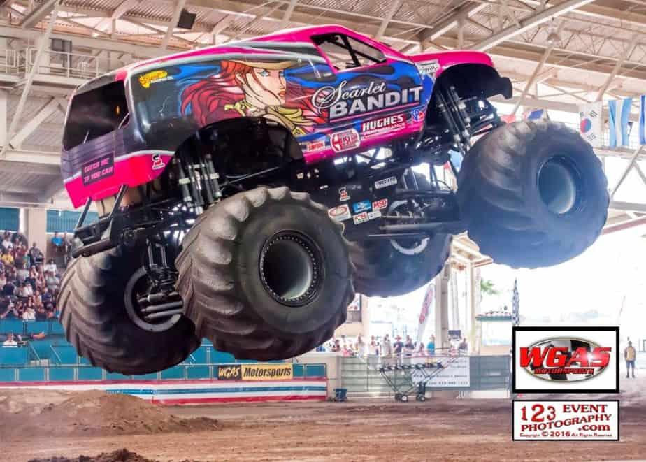 scarlet bandit monster truck wgas motorsports