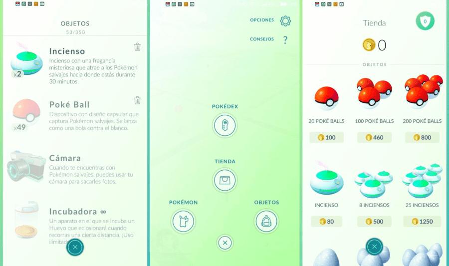 objetos en pokemon go que puedes comprar