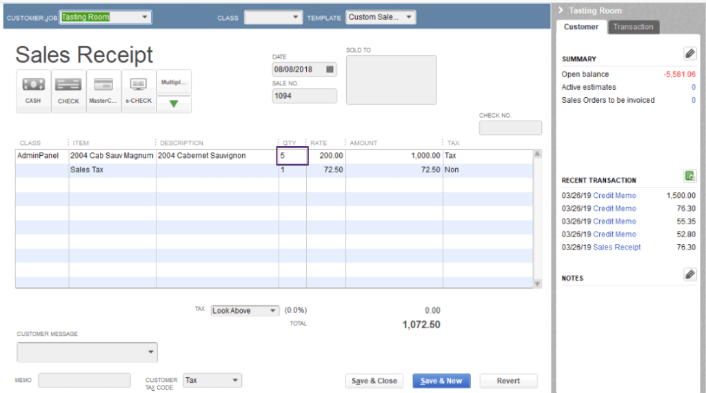 See Quickbooks orders and the quantities that have been collected.