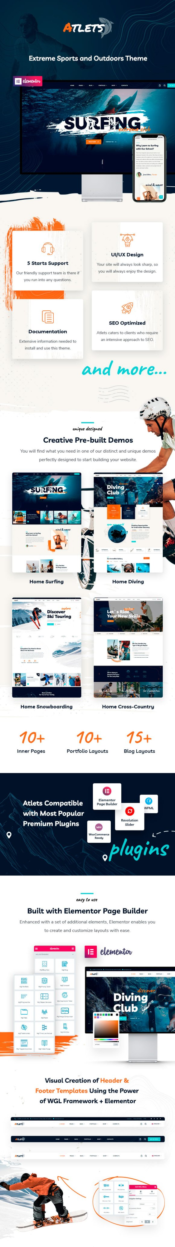 Atlets - Extreme and Outdoors WordPress Theme - 1