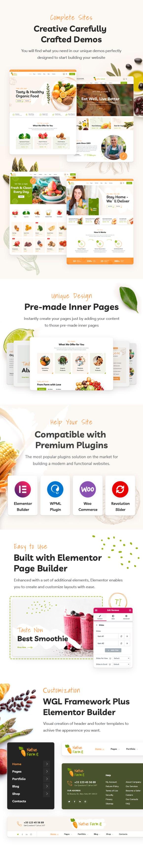 NativeFarm - Organic & Healthy Food WordPress Theme - 1