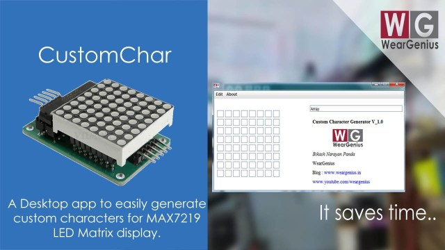MAX7219 LED Matrix Custom Char