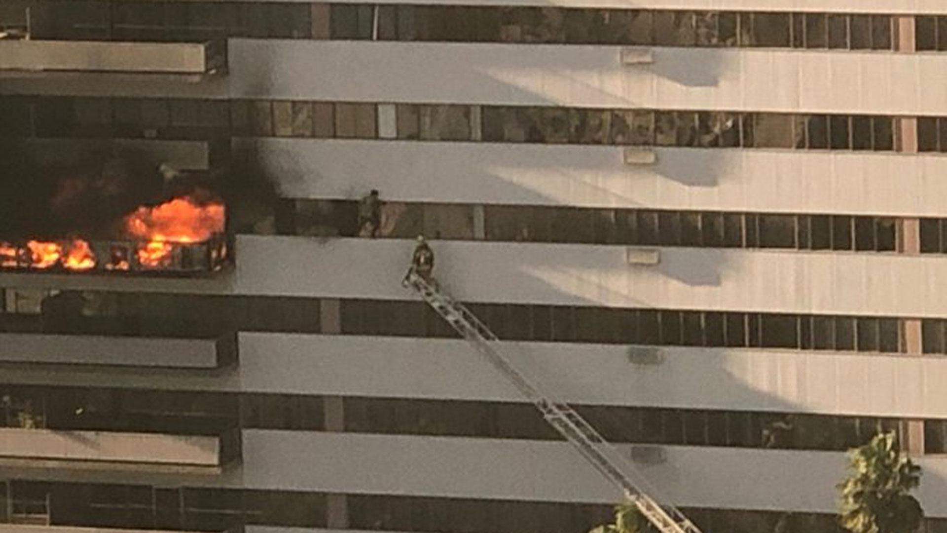 LA high-rise fire