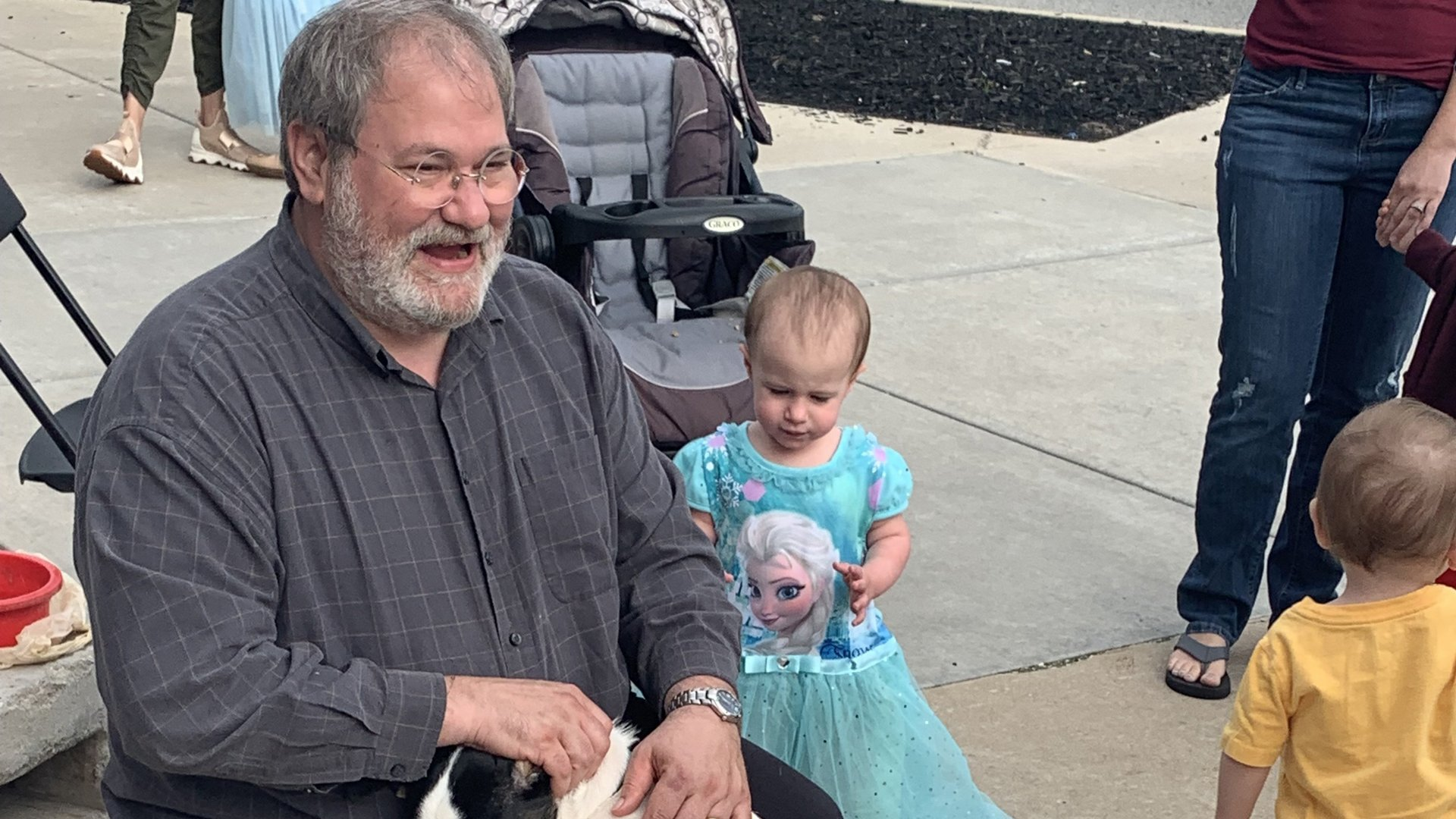 Sal Anello and his granddaughter Chloe are seen in a photo released by the Wiegand Family and distributed by CNN.