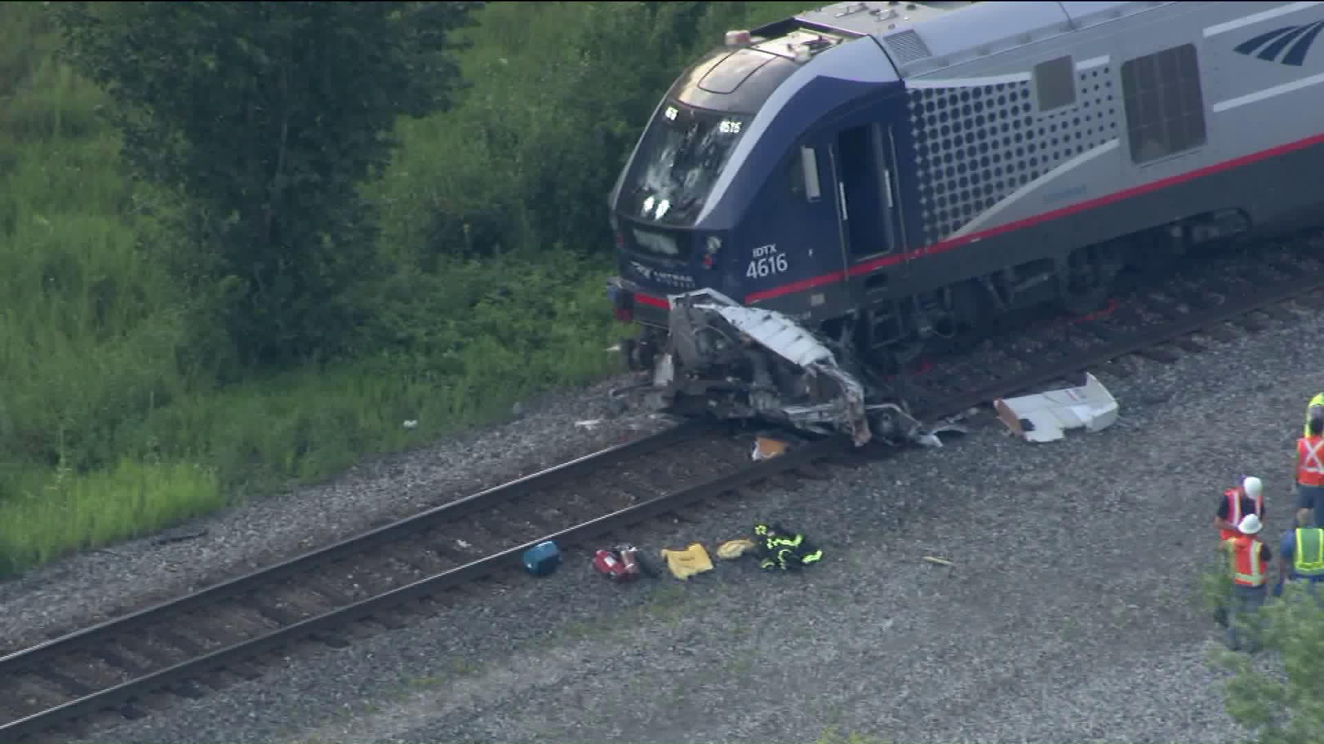 Truck Driver Killed In Crash That Derailed Amtrak Train Wgn Tv