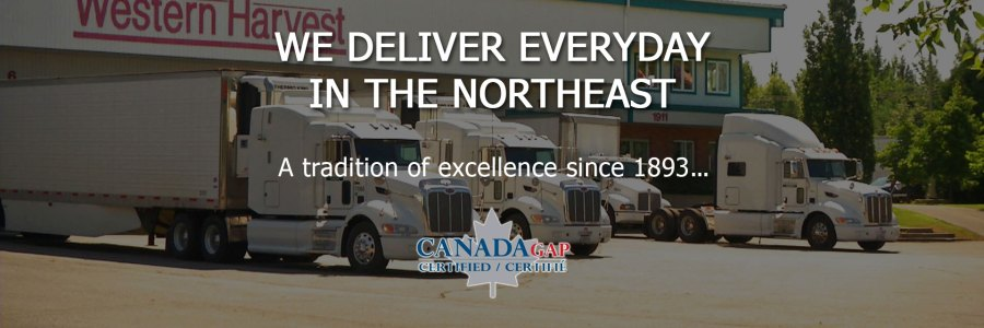 We deliver everyday in the northeast