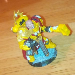 Almost completed Imperial Fists Space Marine Captain