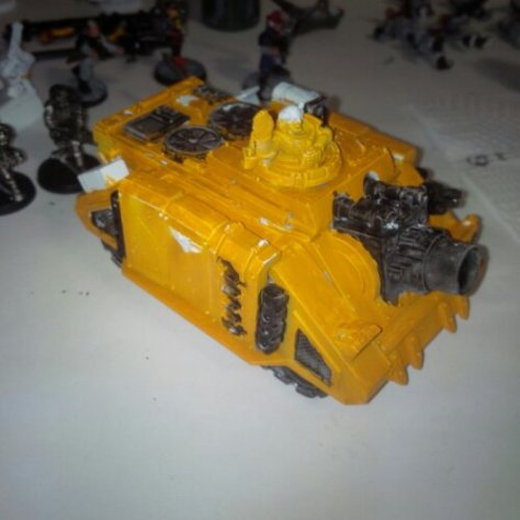Base colours applied to the Space Marine Vindicator