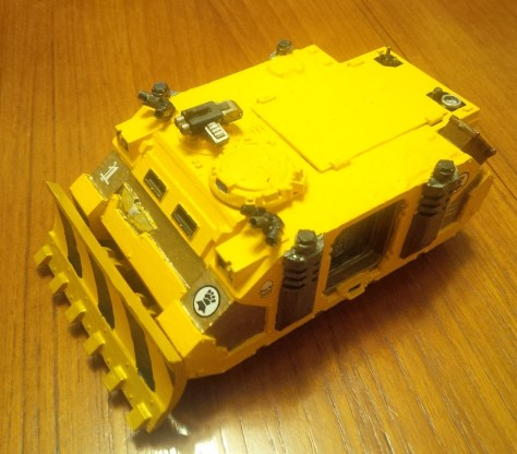 Imperial Fists Space Marine Rhino