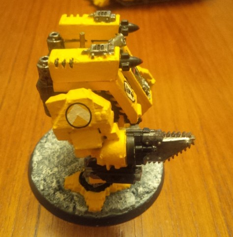 "Imperial Fists Space Marine Dreadnought ""Fort"" (Side View)"