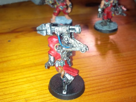 Chaos Cultists converted to Techpriest Engiseer (other side)