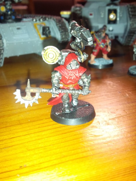 Chaos Cultists converted to Techpriest Engiseer