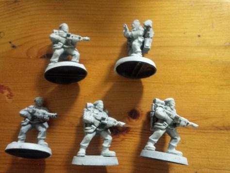 Five 90's stormtroopers