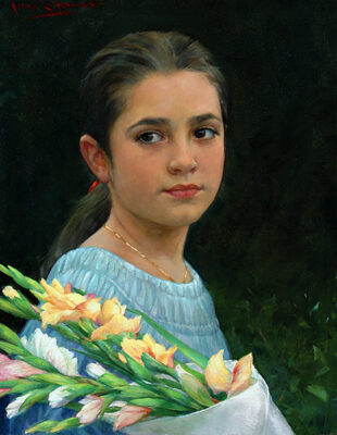 Banks, Girl with Flower