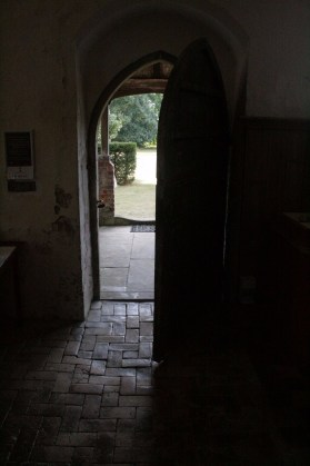 View to porch through entrance.