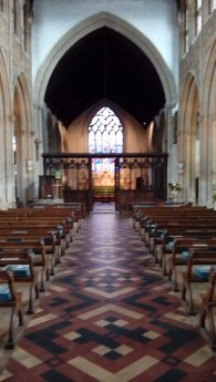 Light and space, from the back of the nave.