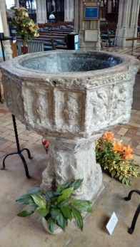 The font dates from the 14th century.