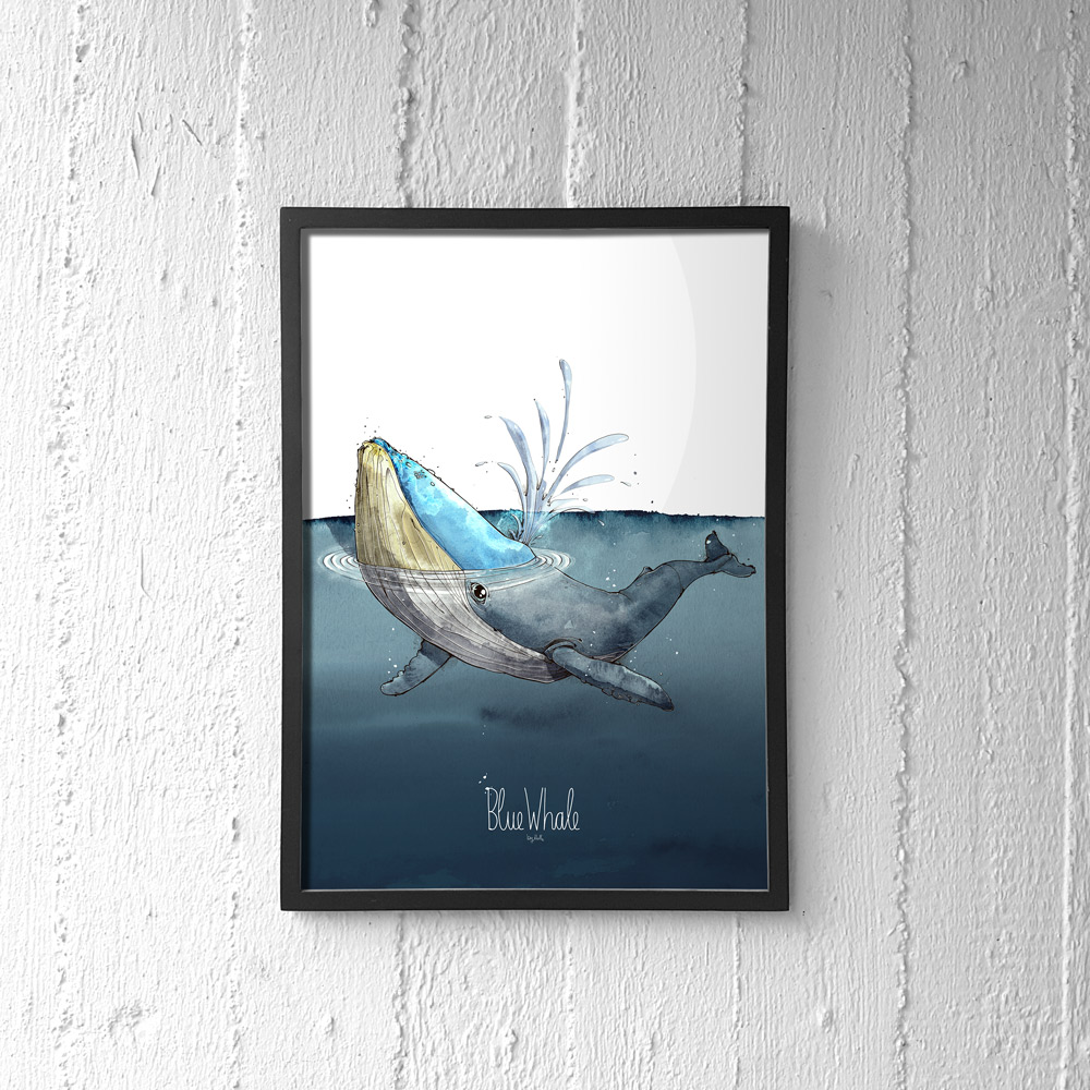Blue Whale Poster