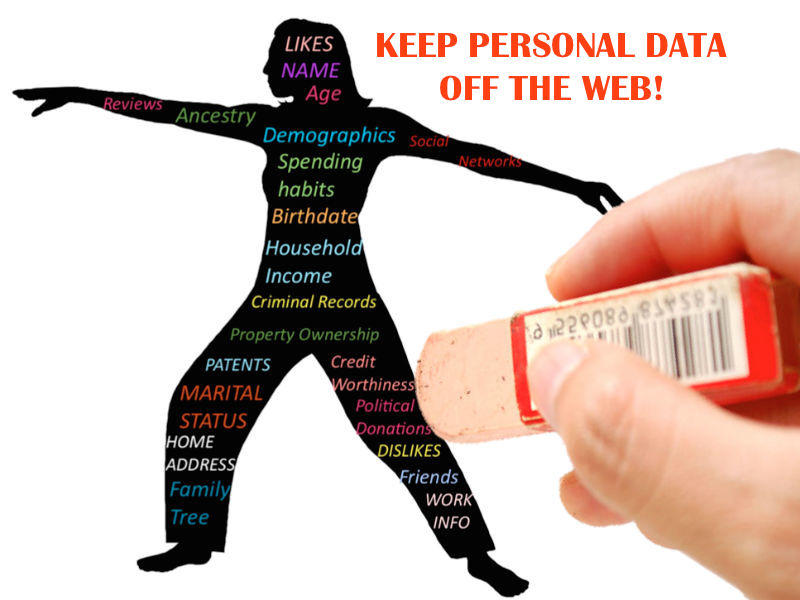 Keep Personal Data off the web