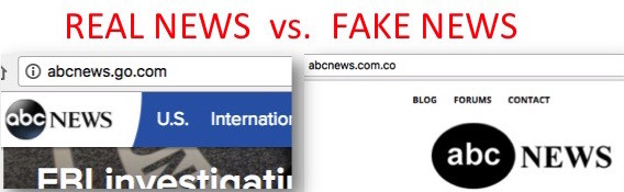 The difference between real and fake news