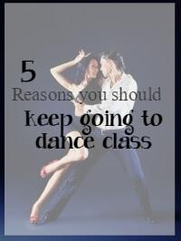 keep going to dance class