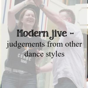 Modern jive – judged by other dance styles