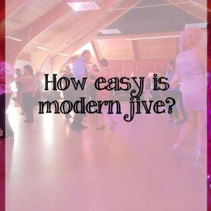 How easy is modern jive dance