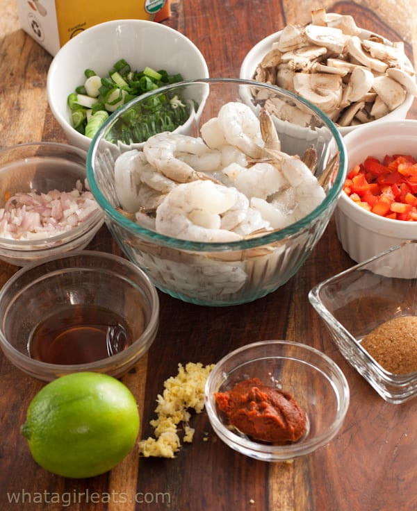 ingredients for thai soup