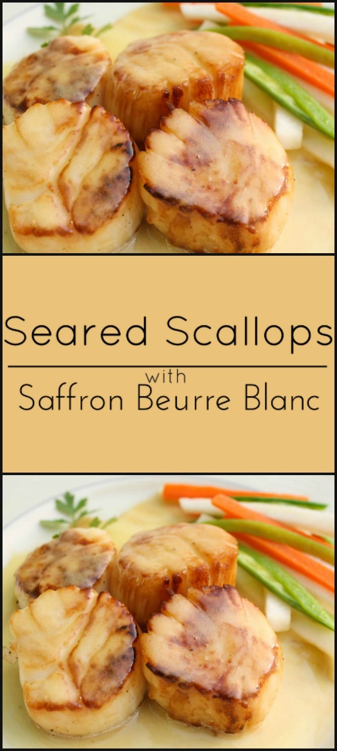 pan seared scallops with saffron beurre blanc - what a girl eats
