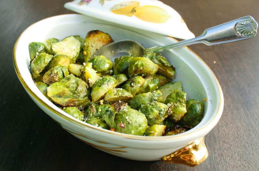 Roasted Brussels sprouts with bacon and pecans is a delicious, flavor packed, and easy to make side dish. Get the recipe from @whatagirleats