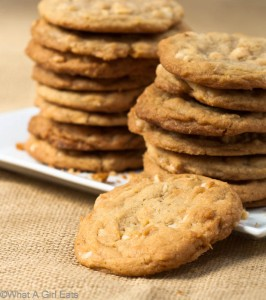 White Chocolate Chip, Macadamia and Toasted Coconut cookies.