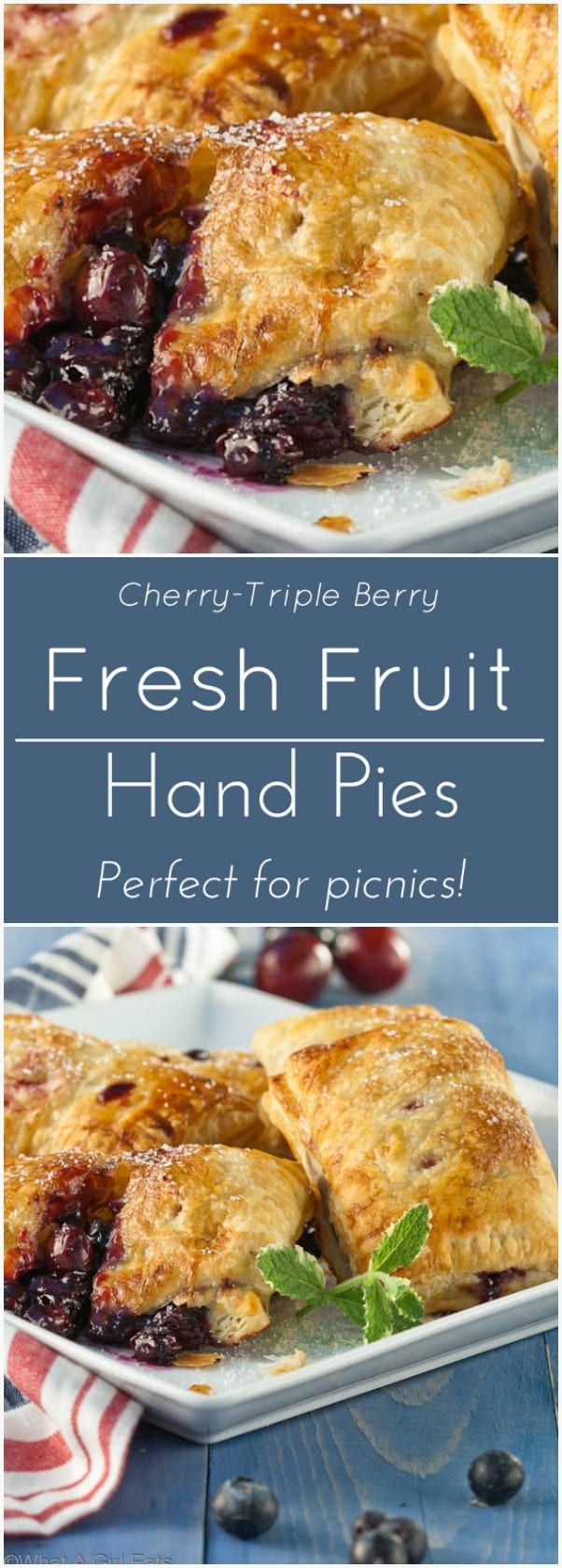 Cherry-Triple Berry Hand Pies.