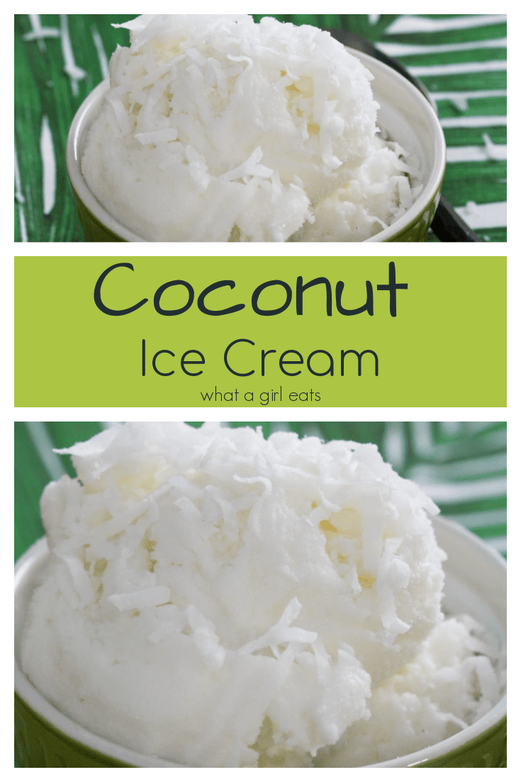 This 4 ingredient coconut ice cream is ready in under 30 minutes and is loaded with cream of coconut, coconut liqueur and shredded coconut.