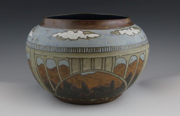 Colorado Street Bridge vase, by Sarah Moore