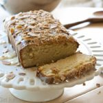 Gluten Free Almond Tea Bread is for almond lovers! Moist and dense, it's almost like a pound cake, but lightened up!   What a Girl Eats