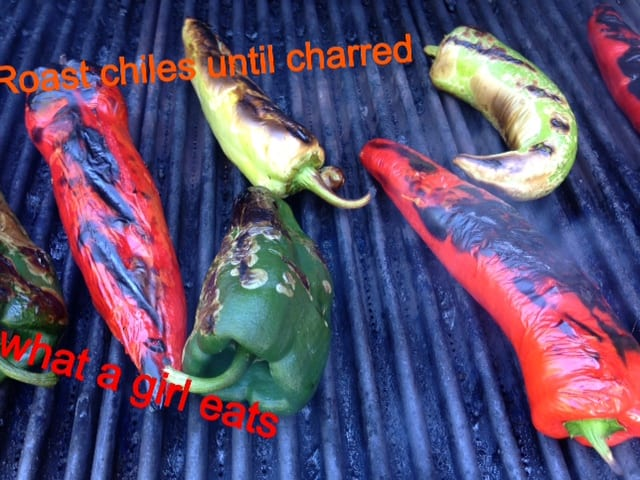 chiles on grill