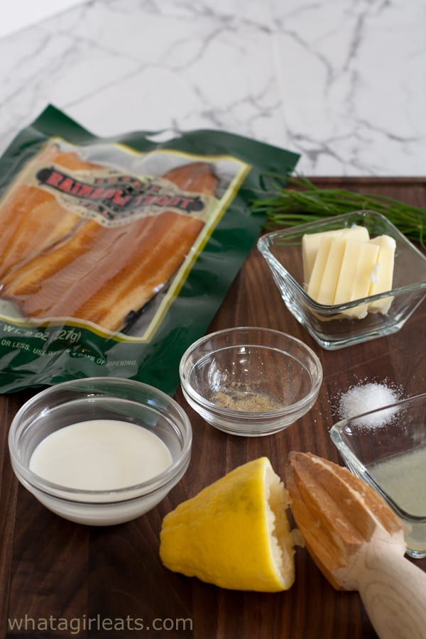 Smoked trout mousse ingredients