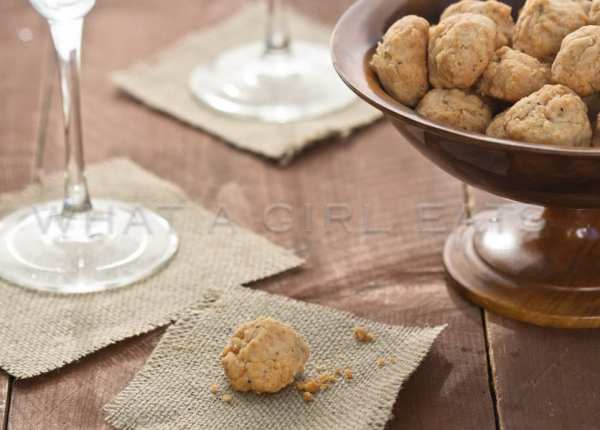 Anne Willan's cheese balls.