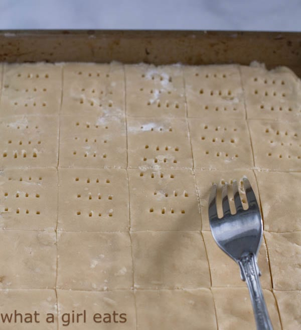 shortbread in a baking sheet