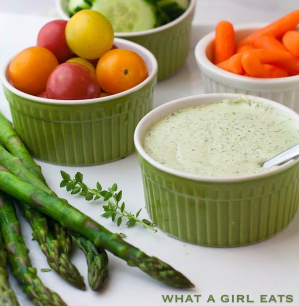 Ina Garten's Green Goddess Dressing Recipe   @whatagirleats