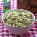 Classic, All-American Potato Salad with sweet pickles. It's the best potato salad I've ever eaten!