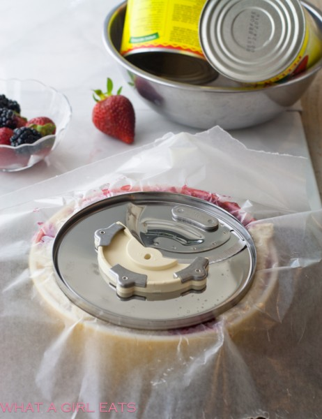 summer pudding with weights