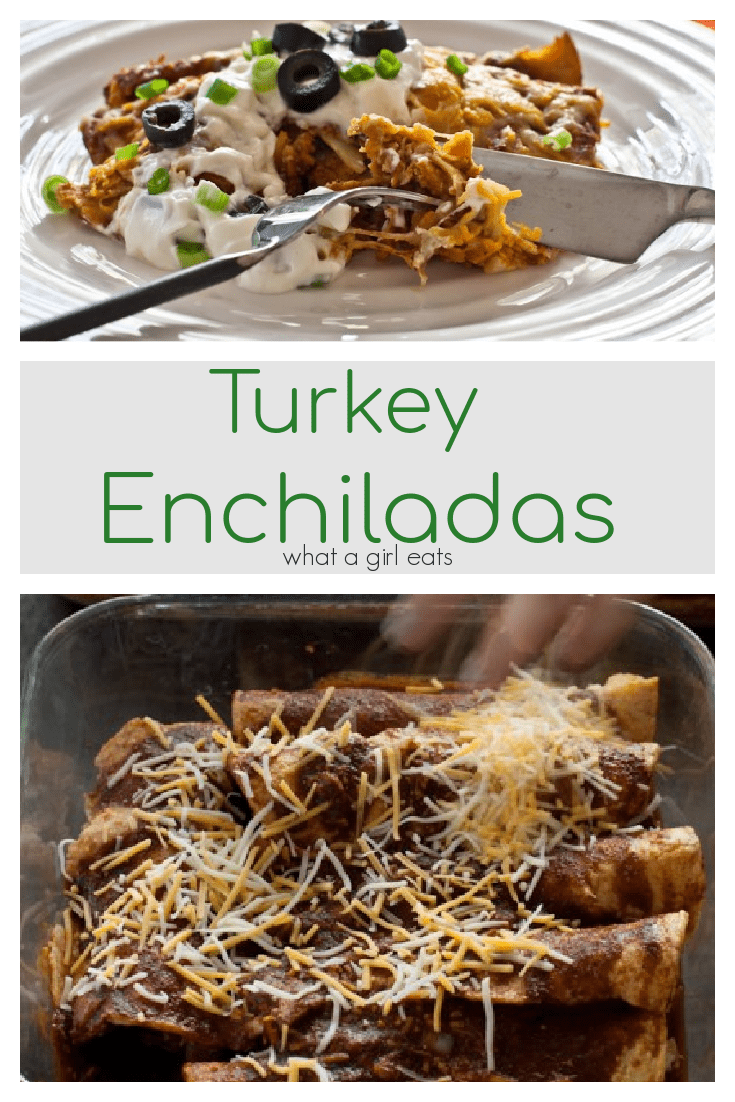 This turkey enchilada recipe is perfect for leftover turkey, chicken, beef or pork. It's budget friendly, easy to make and a family favorite!