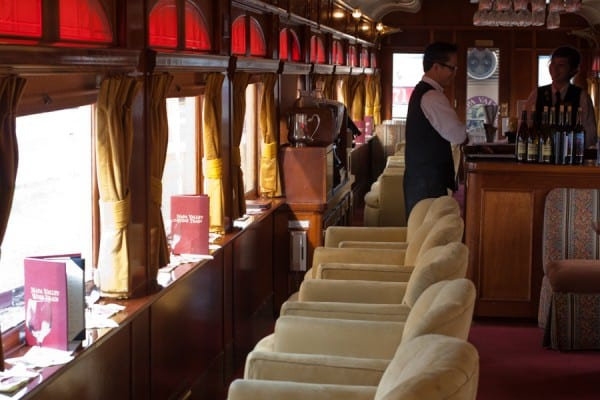 Lounge car in the Napa Valley Wine Train