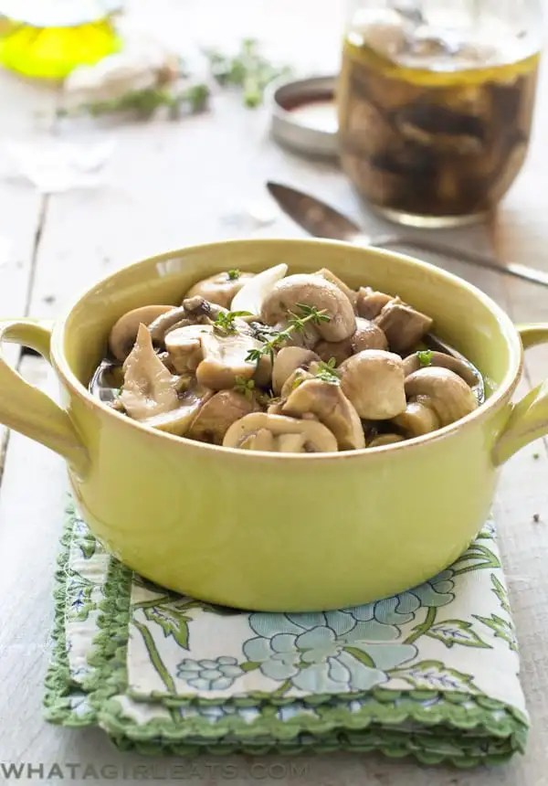 Marinated Mushrooms. Whole30