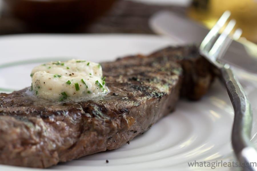 Shallot Horseradish Chive Steak Butter.