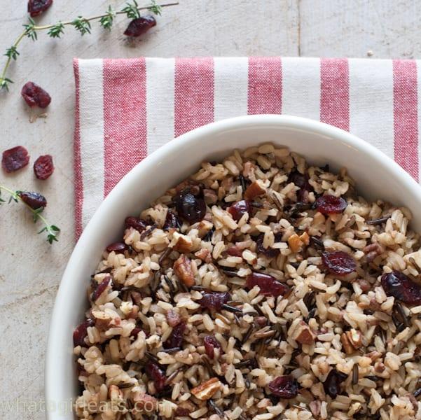 Cranberry Pecan Wild Rice.