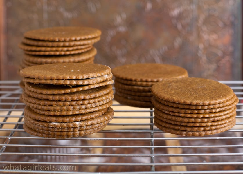 Moravian Molasses cookies are wafer thin and crisp.