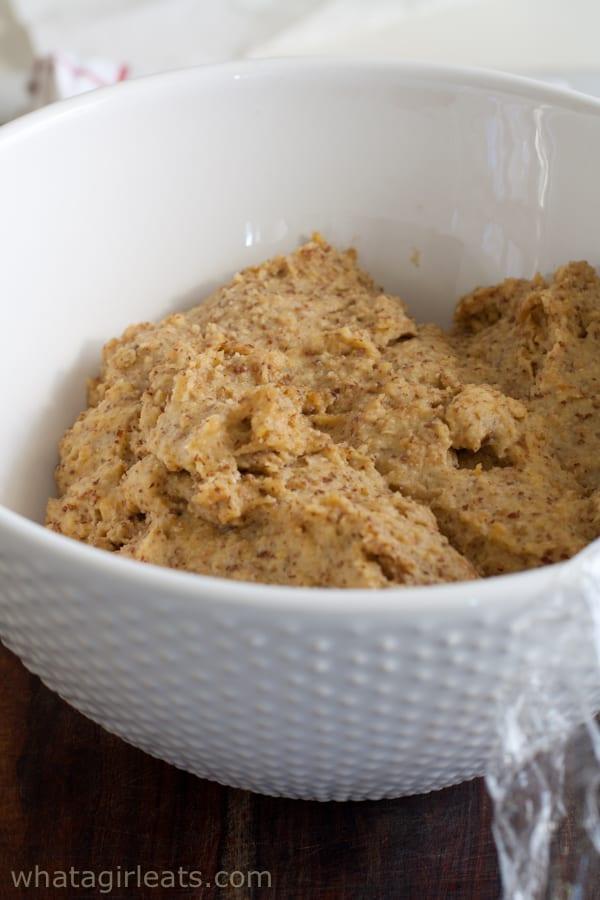 Gluten free and grain free bread stick dough.